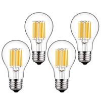 High 4pcs 10W E27 LED Vintage Filaments Light Bulb A60 Classic Bulbs Warm White 2700K Antique Lamp LG66
