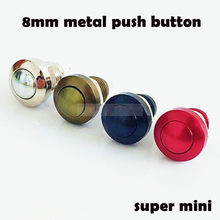 Push Button Switch 8 Mm Momentary3 Warna Logam Aluminium Horn Bel Pintu Bell Switch Tahan Air Mobil Otomatis Mesin PC Power Starter(China)