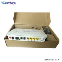 Original ZTE GPON ONU ONT F660 3.0 Version 1GE+3FE+2POTS+WIFI+1USB English firmware Optical Network Terminal Free Shipping