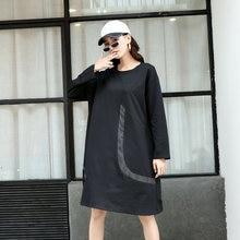 Осеннее платье Модное Новое Женское винтажное пуловер свободного