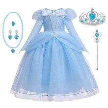 Neue Dornröschen Kleider Für Mädchen Prinzessin Aurora Kleid up Party Kostüm Langarm Cosplay Kleid Halloween Geburtstag Geschenk