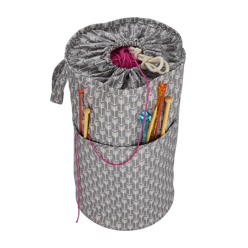 Travel Large Yarn Storage Bag Knitting Crochet Tote Organizer Holder Portable Case