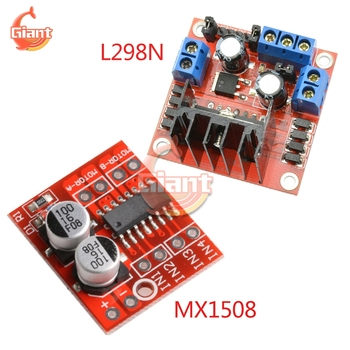 L298N DC Stepper Motor Driver Controller Module Board Dual H Bridge for Stepper Motor Smart Car Robot Plug-in Capacitor MX1508 image