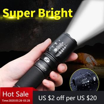SHENYU LED Flashlight 18650 26650 Torch Waterproof Flashlight Cree XML T6 1000 Lumen Zoomable Light sitemap xml