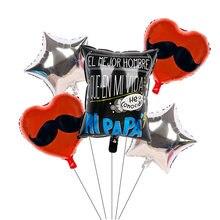 Balões feliz dia do pai, 6 peças, feliz dia do papai, gás hélio, beijos, amor, bolas, mãe, festa balões decorativos