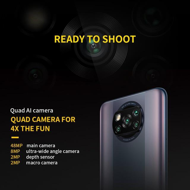 POCO X3 Pro Global Version 6GB+128GB Xiaomi Smartphone Snapdragon 860 120Hz DotDisplay 5160mAh 33W Charge Quad AI Camera 6