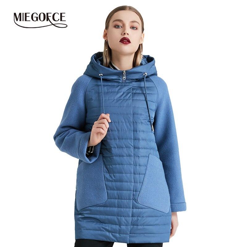 MIEGOFCE 2019 nouvelle Collection printemps automne manteau matelassé femmes printemps à capuche veste femmes Parka offre spéciale