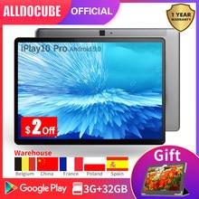 Alldocbe tablet iplay10 pro 10.1 Polegada ips tela mt8163 quad core 3gb ram 32gb rom android 9.0 câmera dupla gps wifi bt4.0