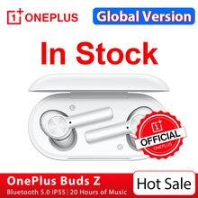 OnePlus Buds Z Globalna wersja bezprzewodową słuchawką TWS IP55 wodoodporny OnePlus oficjalny sklep dla OnePlus 8T 8 pro Nord N10, kod promocyjny: ALIKWIECIEN4($40-4)