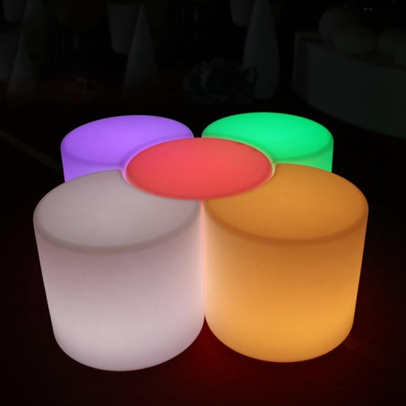 50cm Led Luminous Light Bar Stool Color Changeable Plastic PE Chair - Furniture