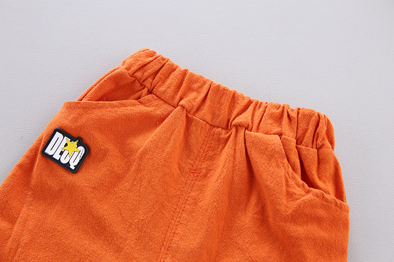Cute Toddler Boy Summer Set 2021 New Cartoon Dinosaur Print Short Sleeve Shirt + Pants for Kid Baby Boys Clothes 5