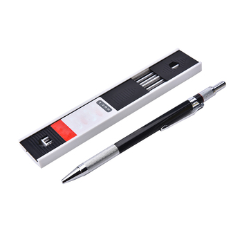 1set Mechanical Pencil 2mm 2B Lead Holder Automatic Mechanical Drawing Drafting Pencil 12 Leads Refills japan tombow 1pcs 0 5mm dpa 162 metal grip mechanical pencil art painting mechanical pencil