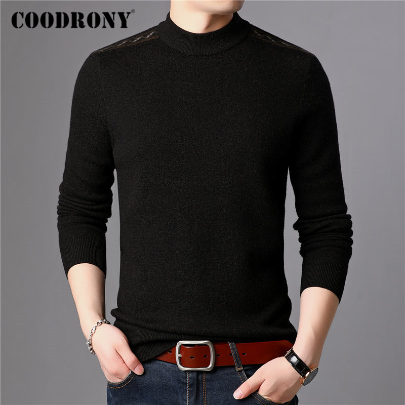 COODRONY Brand 100% Merino Wool Sweater Men Casual O-Neck Pull Homme Winter Thick Warm Pullover Men Soft Cashmere Sweaters 93050