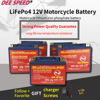 LifePo4 12V motorcycle lithium battery 7Ah 9Ah with BMS lithium ion start ups bateria for 125 motor 12v lifepo4 akku recharge image