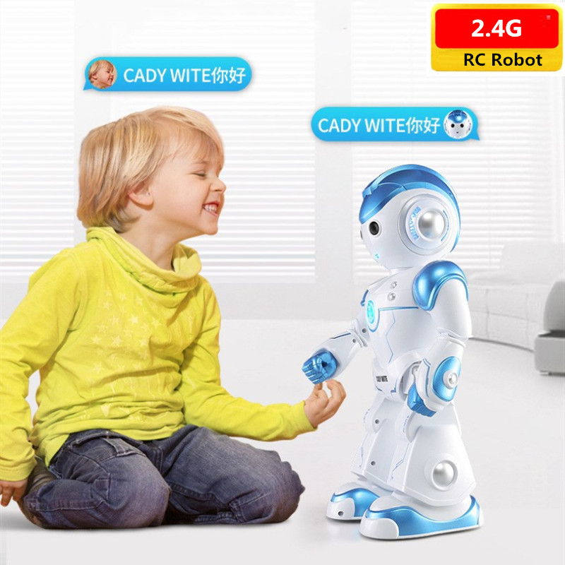 Multi-functional Intelligent Smart Dialogue Robot Dancing and Musical Recording Study Electronic RC Robot Kids Birthday Toy Gift