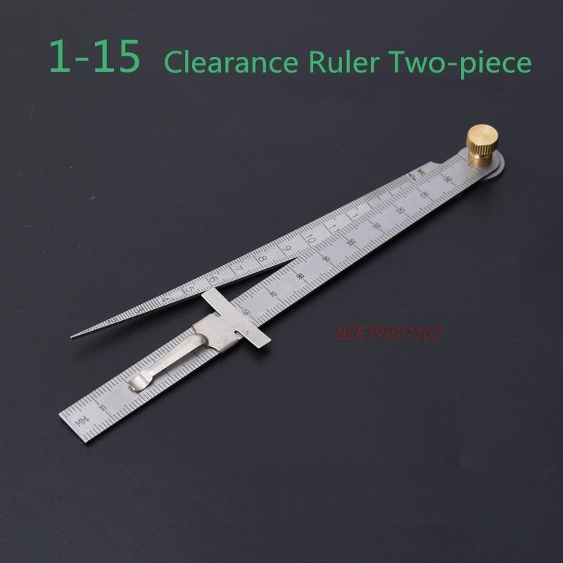 Clearance Ruler Steel Ruler Tapered Ruler Wedge Feeler Hole Ruler Aperture Ruler Inner Diameter Ruler Stainless Steel
