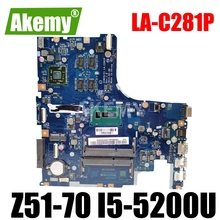 Aiwz0/z1-La-C281p Mainboard-Work Lenovo for Z51-70 Rev1.0 I5-Test Original 100-%