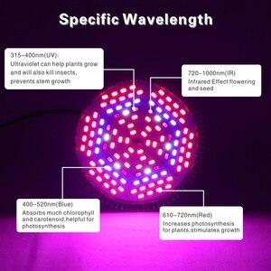 Image 5 - Светодиодный Grow светильник E27 полный спектр 18 Вт 28 Вт 30 Вт 50 Вт 80 Вт для гидропоническая посадка светильник AC85 265V 110V 220V Светодиодный лампа для выращивания растений с питанием от источника