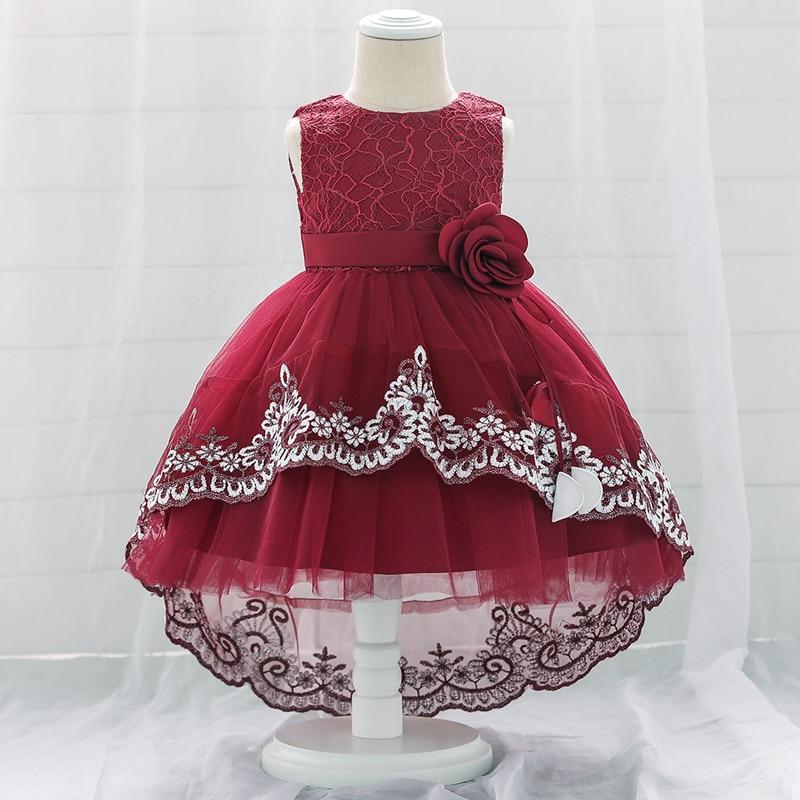 Vestido de princesa para niña de 1 a 2 años, ropa de fiesta para niña, encaje, fiesta de primer cumpleaños, vestido de bautismo de tul, 12 meses, verano 2021