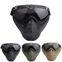 Airsoft Full Face Mask Tactical Breathable Riding Protection Safety Goggles For Outdoor Sport Accessories