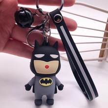 2020 Avengers key chain batman key chains pendant men and women car bag key chain ring creative gift comic book lovers gift(China)