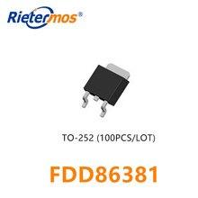 100PCS FDD86381_F085 FDD86381 TO252 MOSFET N CHANNEL