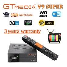 Receptor de satélite gtmedia v9 super/prime 4 tipo de energia opcional por freesat v8 nova DVB-s2 gtmedia v8x h.265 bulit-em wifi