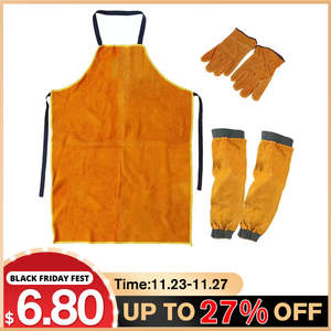 Gloves Apron-Sleeves Workwear Protection Thorn-Proof Blacksmith Heavy-Duty Glaziers Gardening-Welding