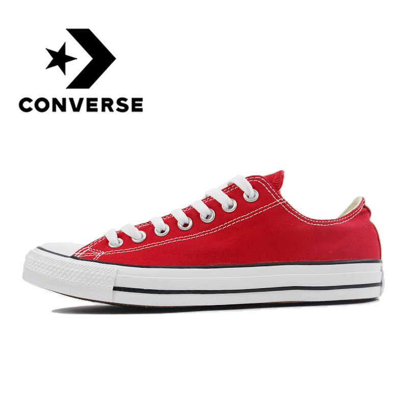 Converse ALL STAR Skateboard Shoes Man's And Woman's Low Top Classic Canvas Unisex Sneakers Lightweight Cozy Anti-slip 101000