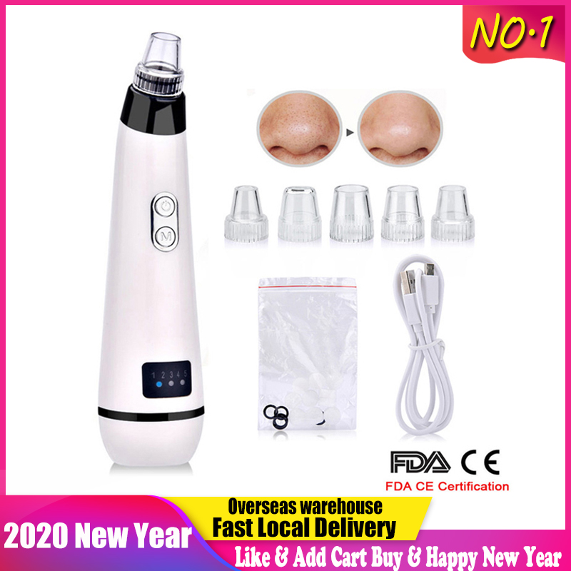 Blackhead Remover Face Nose T Zone Clean Pore Acne Pimple Removal Vacuum Suction Facial Clease