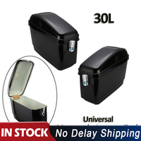 1 Pair Universal 30L Black Motorcycle Side Box Pannier Luggage Tank Hard Case Saddle Bag Cruiser For Harley For Honda