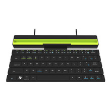 Reel Keyboard Outdoor Portable Wireless Bluetooth 64-Key Folding Mini Without Battery Black Plastic