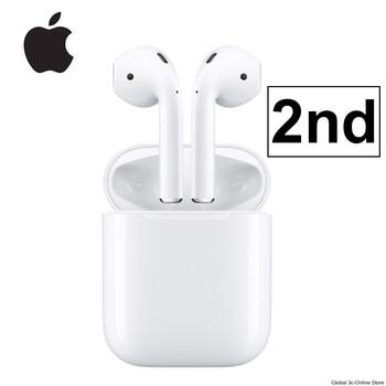 Apple-auriculares AirPods 2. ª con estuche de carga, inalámbricos por Bluetooth, tonos de conexión Siri para iPhone, iPad, Mac y Apple Watch