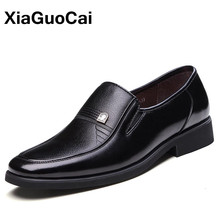 Classic Business Men Dress Shoes Spring Autumn Fashion Father's Leather Shoes Black Slip-On Square Toe High Quality Flats X167 цена 2017