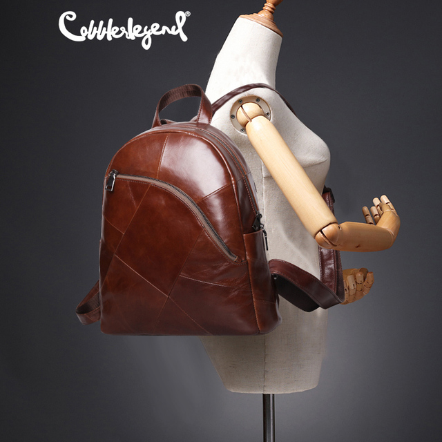 Cobbler Legend Backpack Women 2019 Laptop Bagpack Vintage Classic Genuine Leather Womens Backpack Ladies Bag Mochila Feminina