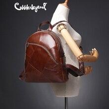 Szewc legenda plecak kobiety 2019 plecak na laptopa Vintage klasyczny skórzany damski plecak torebka damska Mochila Feminina