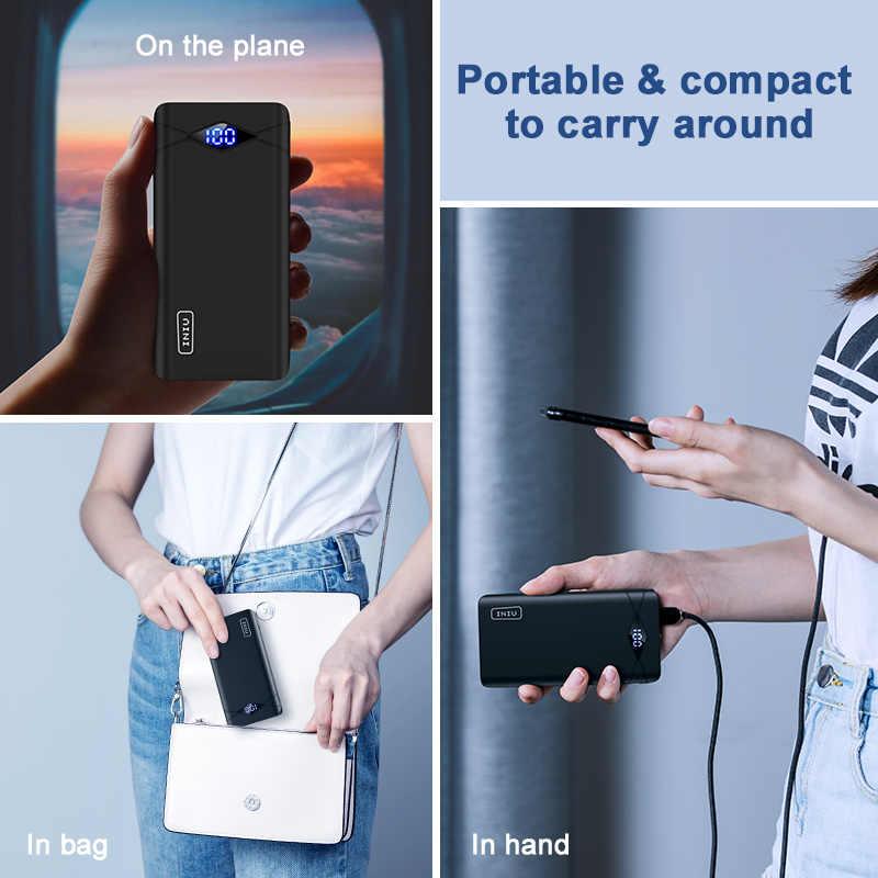 INIU 3A 10000mAh powerbank led podwójna przenośna ładowarka usb powerbank do iphone'a Xiao mi mi bateria zewnętrzna do telefonu komórkowego Poverbank