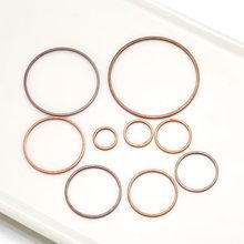 10-50 pcs 8-60mm de Bronze fechado anel círculo brinco de argola para diy pulseira conectores pingente handmake fazer jóias acessórios
