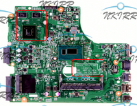 Janus_Intel MB 13302 1 MRF1C PDW5G N59VV DDR3L I3 CPU 820M GPU motherboard for Dell Vostro 3000 14 3449 3446 15 3549 3546
