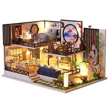 Cutebee детские игрушки кукольный домик с мебелью собирать деревянные