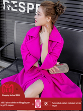 Rose Pink Cashmere Wool Coat