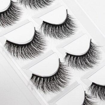 5 Pairs Or Set False Eyelashes Wispy Fluffy Curly Magnetic Eye Lashes Professional Cosmetics For Eyelash Women's Make Up 1