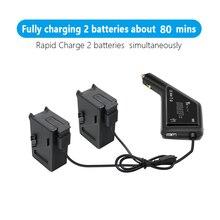 Carregador de carro de bateria dupla para dji fpv com porta usb para dji fpv controlador remoto bateria ao ar livre acessórios de carregamento de carro