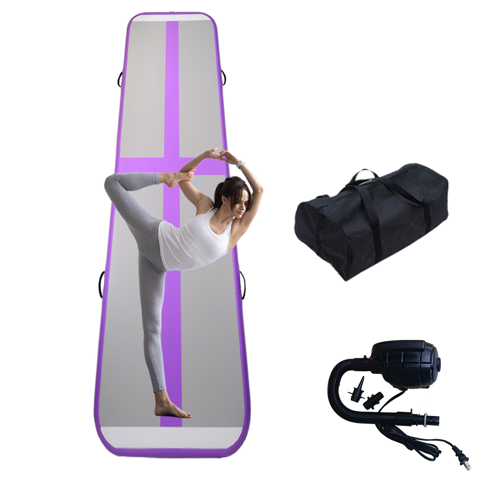 6m Inflatable Gymnastics Tumbling Air Track Floor Trampoline For Home Use/Training/Cheerleading/Beach With Electric Pump