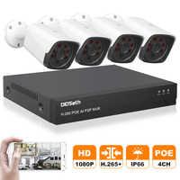 DIDSeth 4CH HD 1080P POE CCTV Video NVR System 4PCS 2MP POE IP Kamera Outdoor Wetterfeste Home Security überwachung Kits