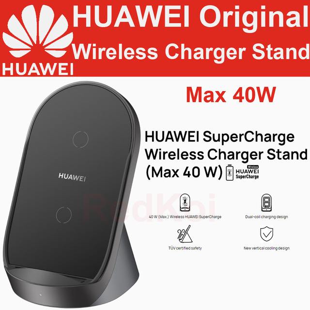 Huawei SuperCharge CP62 Wireless Charger Stand 40W Desktop CP61 AP61 CP60 CP39S CP37 Car Charger P40 Pro + Mate 30 Pro P30 Pro