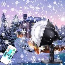 Рождественский светильник проектор светодиодный динамический
