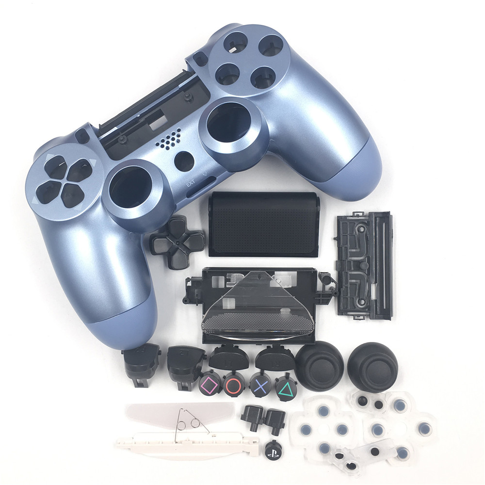 Housing Shell <font><b>Case</b></font> Buttons Set DIY <font><b>Mod</b></font> Kit for Playstation <font><b>PS4</b></font> Slim 4 Game Controller Joystick Cover for <font><b>PS4</b></font> Slim 4 Spare Parts image