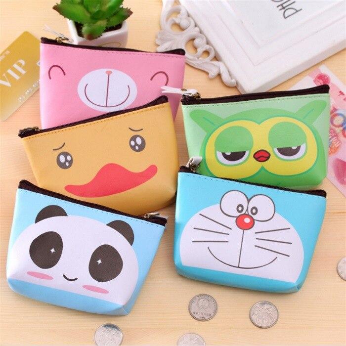 Cute Cartoon Mascot Mini High Quality PU Purse Coin Bag Carrying Key Zipper Bag