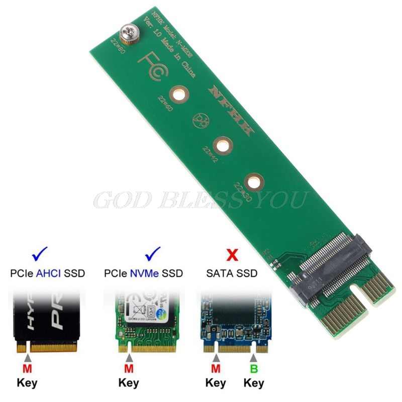 PCI-E 3.0 1x To NGFF M-key M.2 NVME AHCI SSD Adapter Card For XP941 SM951 PM951